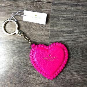 NWT Kate Spade Whip Stitch Large Key Fob Heart Key